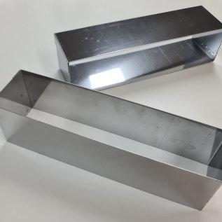 Rand rechthoek RVS 22-4 cm.  Hoogte 4 cm.