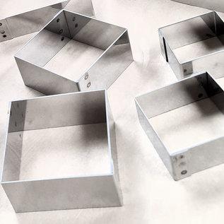Vierkante ring (rondo) 3-3 cm. diverse hoogtes