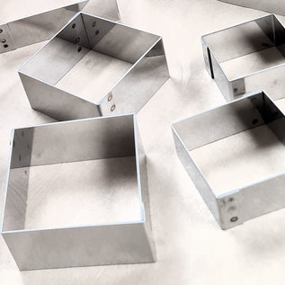 Vierkante ring (rondo) 7-7 cm. diverse hoogtes