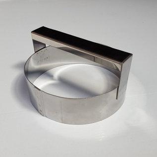 Steker met handvat RVS diam. 10 cm.