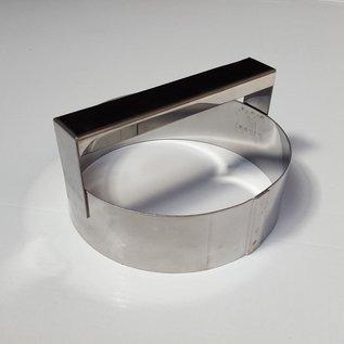 Steker met handvat RVS diam. 12 cm.