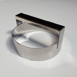Steker met handvat RVS diam. 14 cm.