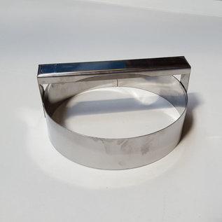 Steker met handvat RVS diam. 15 cm.