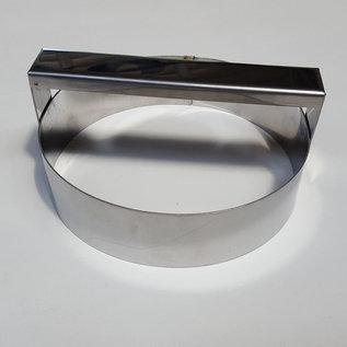 Steker met handvat RVS diam. 16 cm.