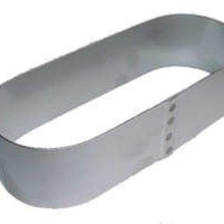 Ovale Sloffen ring 24-9 cm. RVS