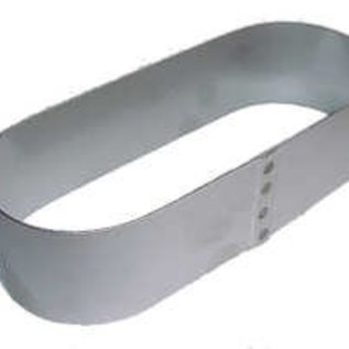 Ovale Sloffen ring 22-8 cm. RVS