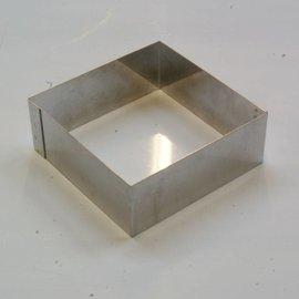 Rand Vierkant RVS 13-13 cm.