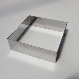 Rand Vierkant RVS 15-15 cm.