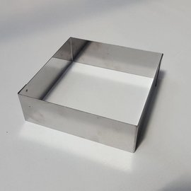 Rand Vierkant RVS 16-16 cm.