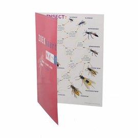 Zoekkaart muggen, vliegen, etc. geplastificeerd