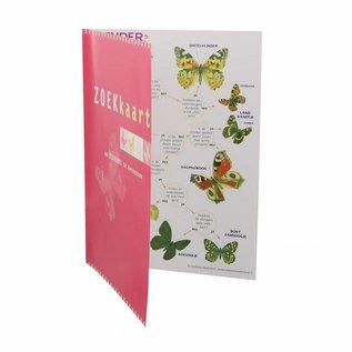 Zoekkaart vlinders geplastificeerd