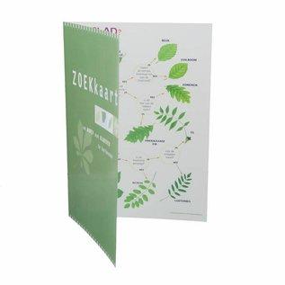 IVN Zoekkaart bomen in blad geplastificeerd