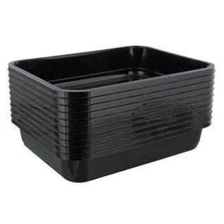 Onderzoeksbak zwart flex 10cm