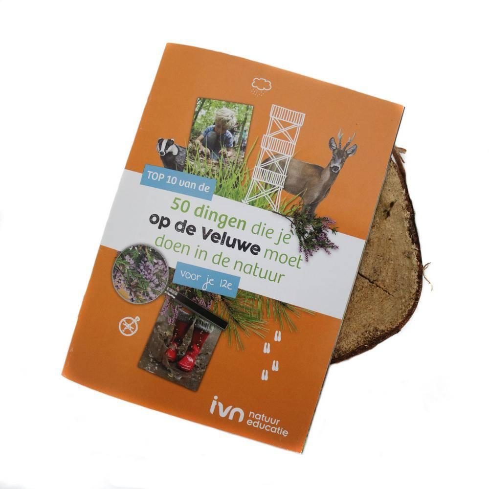 419f07bfa77 Beleef de Veluwe rugtas + 20 top 10 boekjes - IVN Winkel