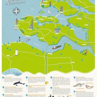 Poster 50x op avontuur in de Zeeuwse natuur