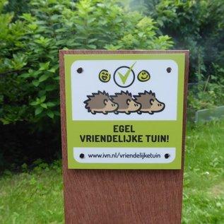 Bordje: De Egel vriendelijke tuin