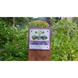 IVN en Peerdrops Bordje: De Wilde planten vriendelijke tuin