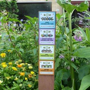 Bordje: De Vogel vriendelijke tuin