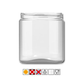 Glasheldere pot met deksel - 1 liter