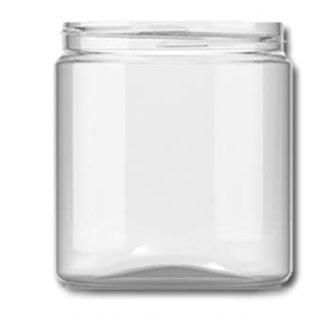 PET pot Glashelder  met deksel1 liter