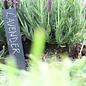 Esschert Design Plantenlabel van leisteen (set van 6 met waxstift)