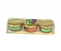 Setje van 3 kleine potjes Immenhof honing