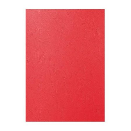 GBC voorblad A4 karton lederlook 250gr rood