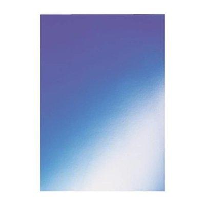 GBC voorblad karton higloss 250gr blauw