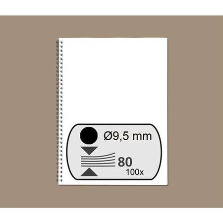 GBC wire-o draadbindrug 3:1 metaal 9,5mm 34rings A4