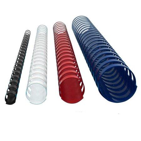 GBC Plastic bindrug 12mm 21 rings A4 25 stuks