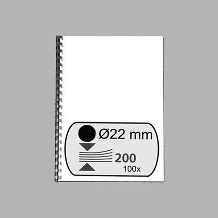 GBC plastic bindrug 22mm 21 rings A4 100 stuks