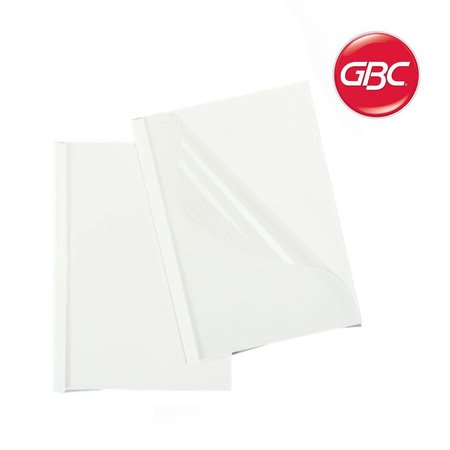 GBC thermische omslag A4 8mm transparant/wit