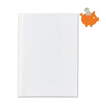 Huismerk 10mm bindomslagen wit/transparant 80stuks