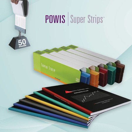 Powis Parker Bindstrips formaat medium 126-250vel 400st.