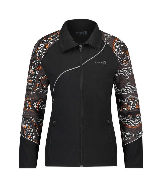 BAHATI jacket zwart/melon