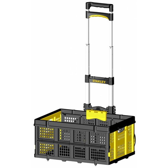 STANLEY FT501 Aluminum Folding Hand Truck 60Kg with Basket Holder