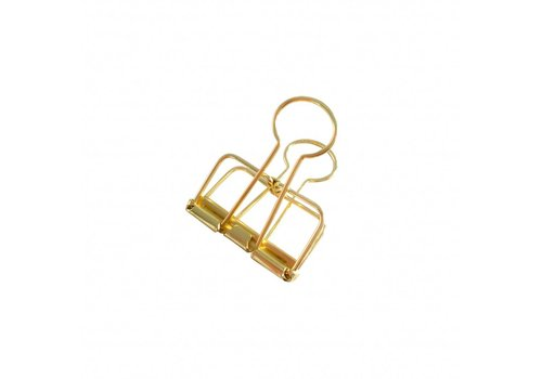 Studio Stationery Binder clips Gold M