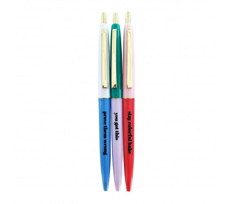 Stay colorful ballpen set