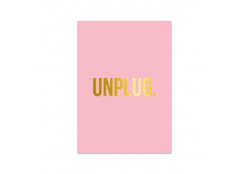 Studio Stationery Card Unplug