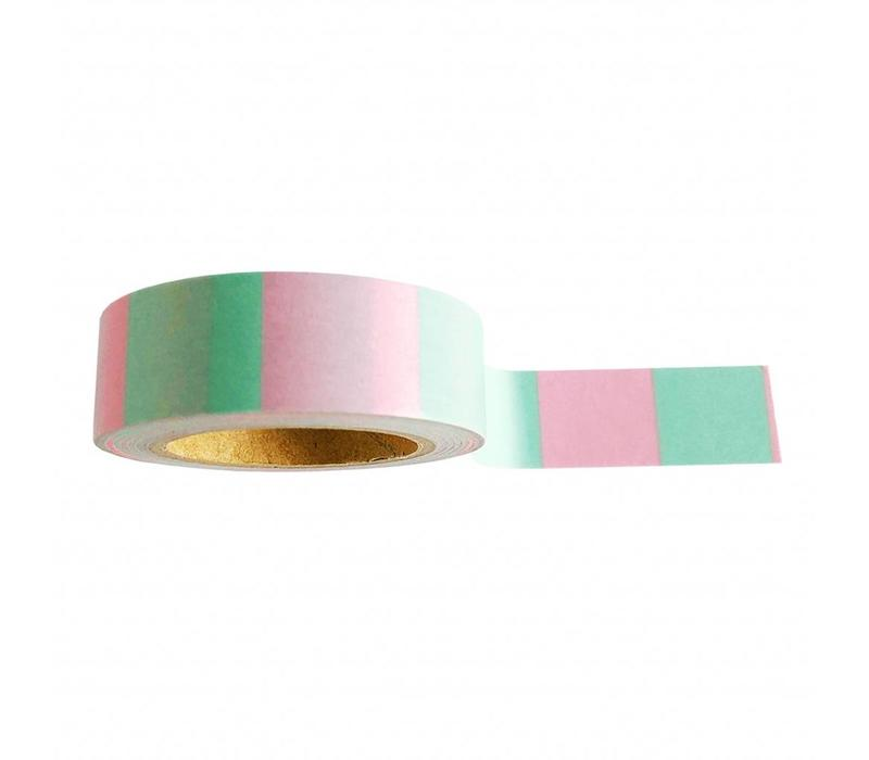 Washi tape Mint pink