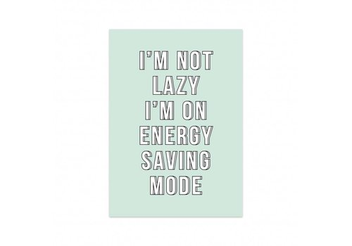 Studio Stationery Kaart Energy saving mode