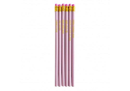 Studio Stationery Pretty pink Pencil set