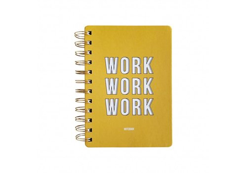 Studio Stationery Notebook Work work work Yellow