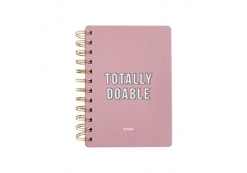 Studio Stationery Notebook Totally doable Pink
