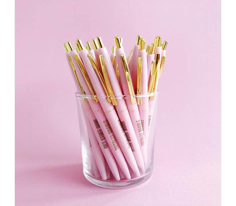 Pretty pink Ballpen set