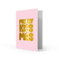 Xmas card Merry kissmas