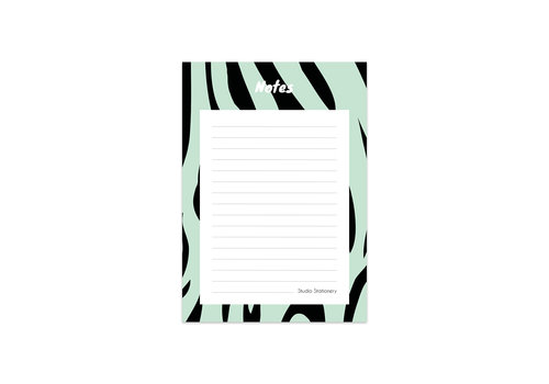Studio Stationery Noteblock Zebra Mint