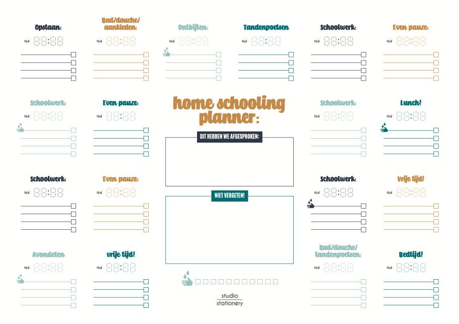 Gratis Home Schooling Planner