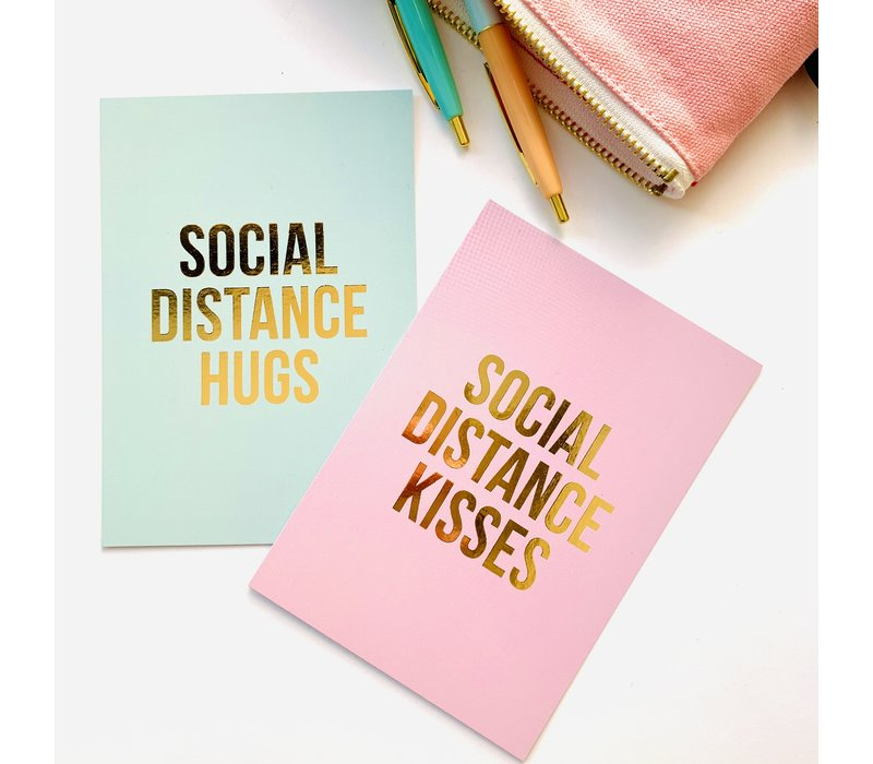 Card Social Distance Hugs
