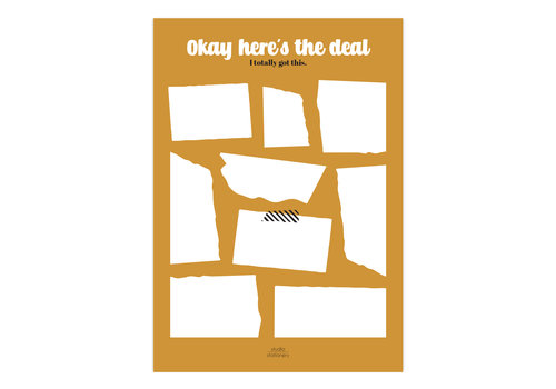 Studio Stationery A5 Noteblock Okay here's the deal Ocher